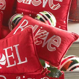 Image Is Loading Red Believe Pillow By KK Interiors Inc 51141C