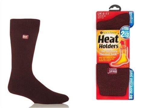 6 Paires Véritable Thermique Hiver Chaud Heat Holders Chaussettes Taille UK 6-11 Eur 39-45