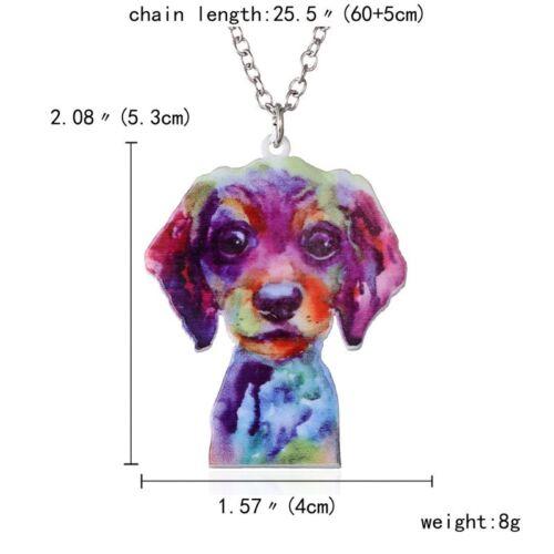 Lovely Printing Flower Animal Cat Dog Horse Sun Moon Pendant Necklace Gift New