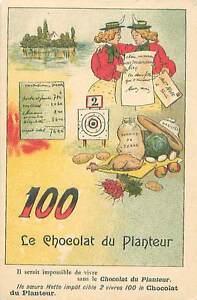 """REBUS DEVINETTE 1 CHOCOLAT DU PLANTEUR AVEC SA SOLUTION 1900s CHROMO - France - IMAGE CARD CHROMO PORT GRATUIT EUROPE A PARTIR DE 4 OBJETS BUY 4 ITEMS AND EUROPE SHIPPING IS FREE ÉTAT VOIR PHOTO FORMAT 10,5 CM X 7 CM SIZE : 4.13"""" X 2.75"""" inch 509 - France"""