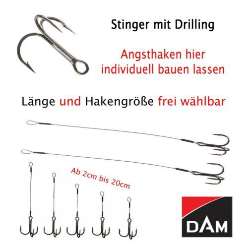 Stinger Drilling Angsthaken Haken Köderfisch Raubfisch Zusatzhaken *frei wählbar