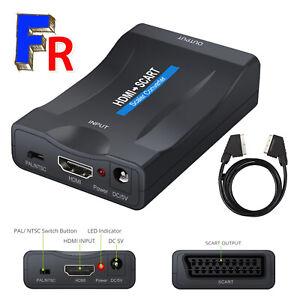 Convertisseur Adaptateur 1080p60hz HDMI en Péritel vers SCART Audio sétéo