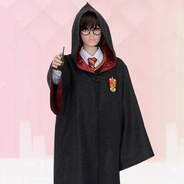 Harry Potter Coat Cosplay griffindor Slytherin  cloak CLOTHE Free Size