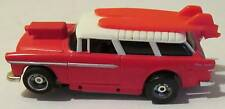 Mattel Tyco '55 Nomad Slotcar, Red/White with Customized Surfboards