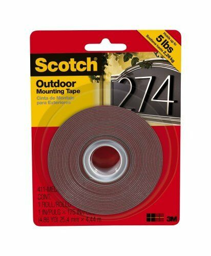 Medium Scotch 411-MEDIUM Outdoor Mounting Tape 1 by 175-Inch