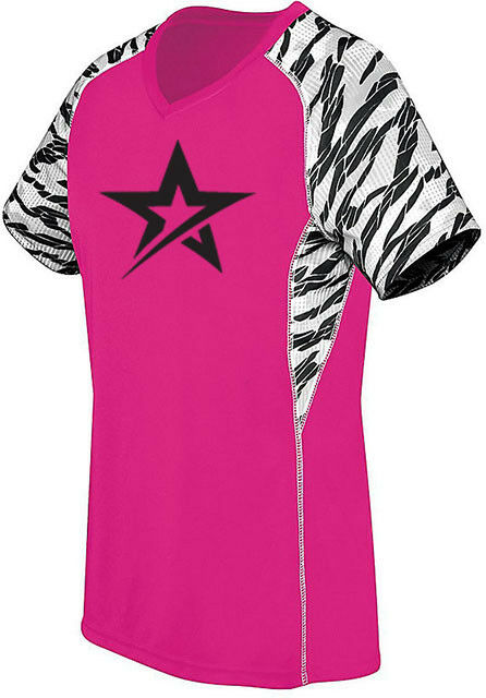 redo Grip Women's Demented Performance Crew Jersey Bowling Shirt Dri-Fit Pink