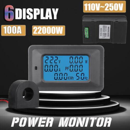 100A Digital LED Panel Power Monitor Power Energy Voltmeter Ammeter Meter Tester
