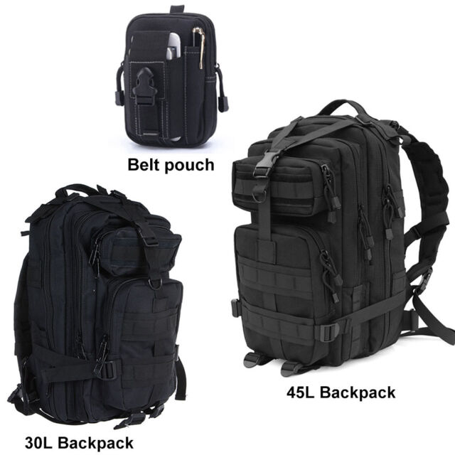 30L 45L Military Tactical Army Rucksacks Molle Backpack Camping Hiking Belt Bag