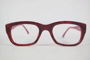 Vintage-Missoni-0109-48-20-140-Rot-oval-Brille-Brillengestell-eyeglasses-NOS