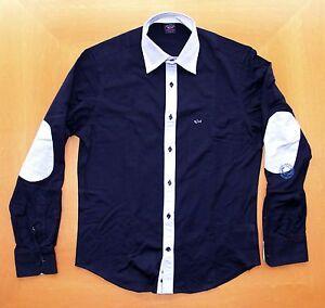 Shirt New Paul Lunga Long Camicia S Manica Men's Nuova Sleeve Shark Maglina qzwCq4