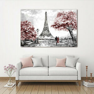 Details About Paris Eiffel Tower Landscape Canvas Painting Wall Art Picture Print Home Decor