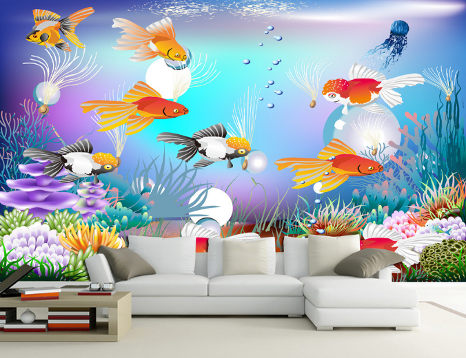 3D Fish Ocean 504 Wallpaper Murals Wall Print Wallpaper Mural AJ WALL AU Kyra