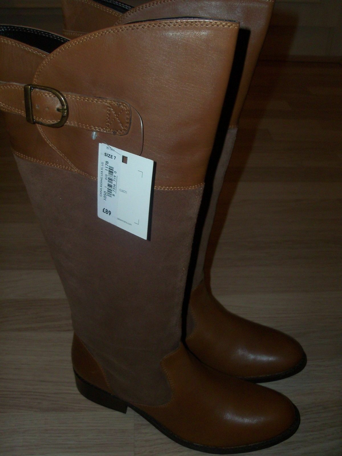 NEW DEBENHAMS COLLECTION Leather Boots Tan Size UK UK UK 7 4488e4