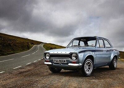 MK1 Ford Escort Poster - Mexico, classic car wall Art - High quality A4 Print