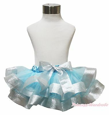 Black Check Plaid Satin Trimmed Tutu Dress Baby Girls Pettiskirt Skirt NB-8Year