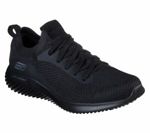 Skechers-Noir-Chaussure-Hommes-Memoire-Foam-Mesh-Sport-Confort-Light-Casual-Slipon-52595