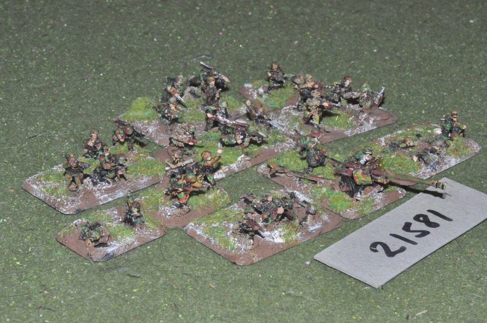 15mm WW2   german - 34 cammo infantry world war 2 - inf (21581)
