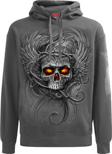 SPIRAL DIRECT ZIPPED Hoody//Tattoo//Horror//Skull//Goth//Evil//Mask//Metal//Horror//Hood