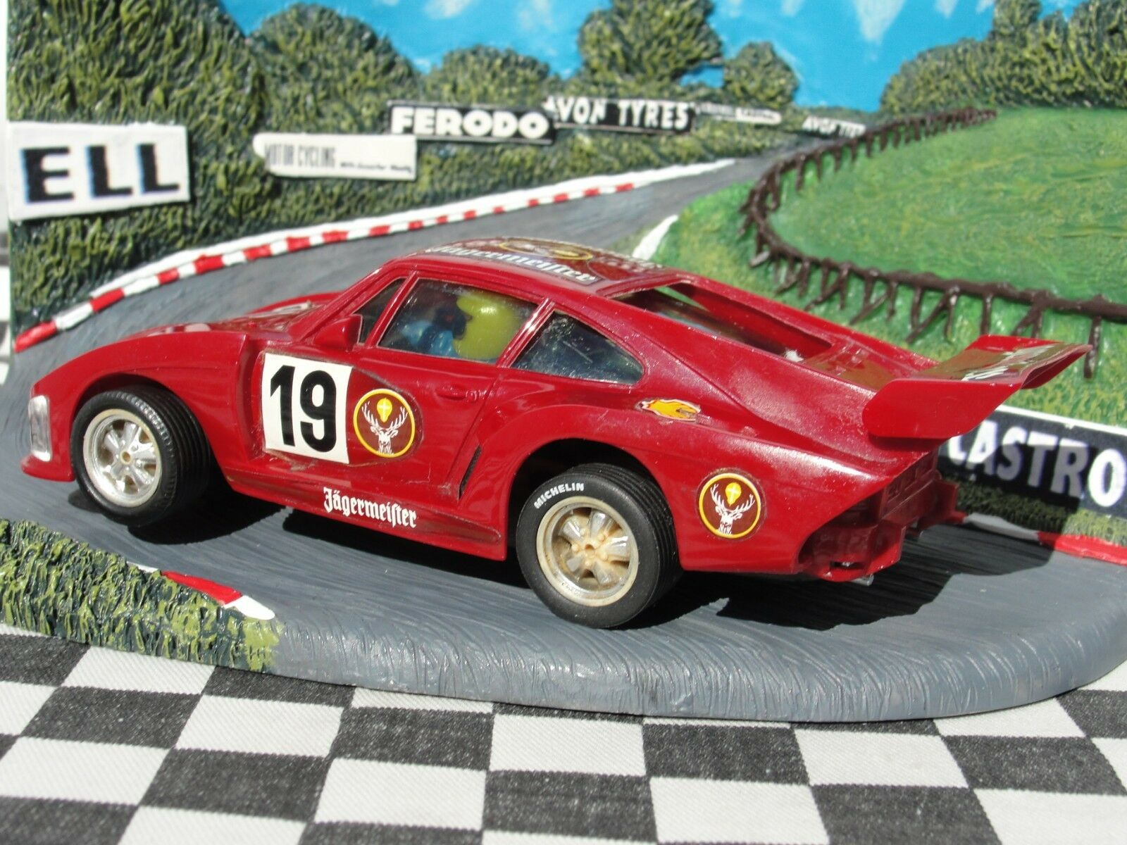 SCALEXTRIC 1970'S SPANISH PORSCHE RED  32 SLOT USED UNBOXED