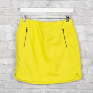 f013a6308 Details about J Crew Women's Zip Pocket Canvas Mini Skirt Yellow Size 4  Cotton Linen Casual