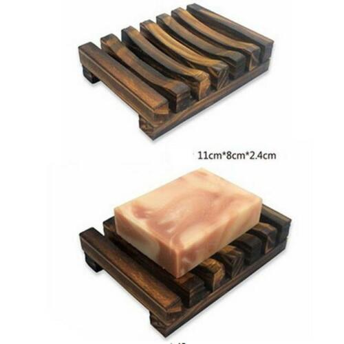 Bathroom Wood Soap Tray Holder Dish Storage Shower Plate Wash Box Container Jian