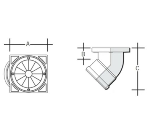 Marley Underground Drain PVC 45° 110mm Rodding Point URP1 Single Socket