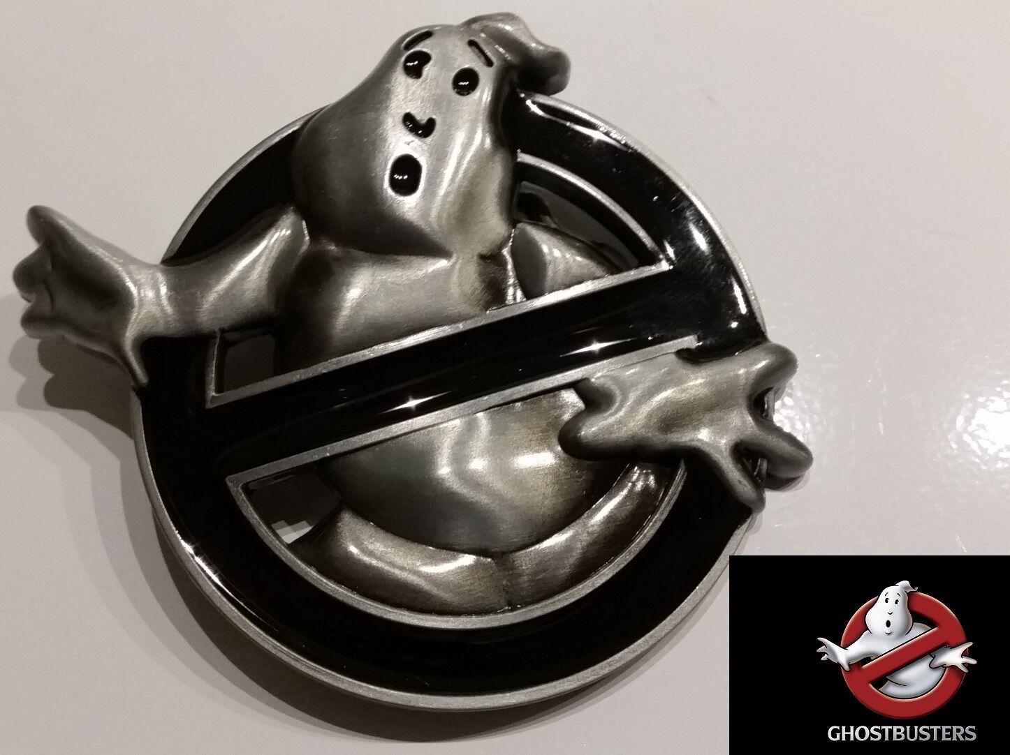 ♈ Ghostbusters!! película Logo Hebilla De Cinturón Negro Plata ♈ Cosplay Regalo Coleccionable
