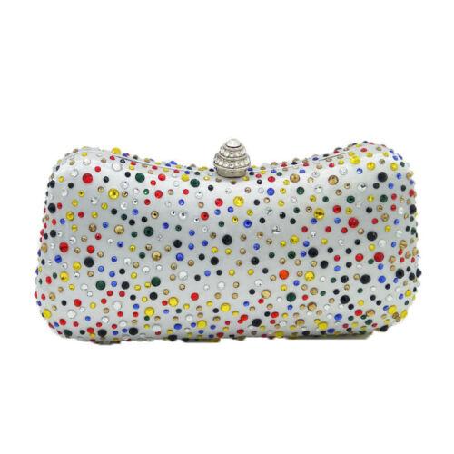 Evening Clutch Bag Womens Crystals Wedding Purse Bridal Prom Handbags Party Bags