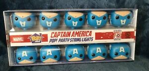 Funko Pop Party String Lights Marvel Captain America