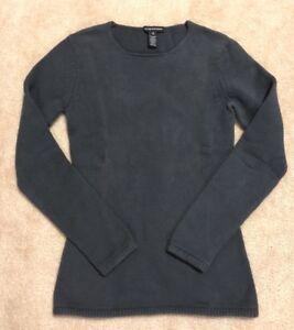 Club-Monaco-women-039-s-dark-gray-pullover-sweater-size-XS-cotton-blend