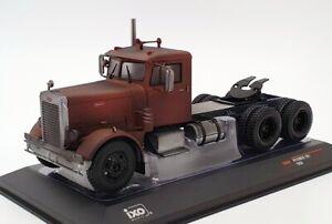 IXO-1-43-escala-diecast-camion-TR049-1956-Peterbilt-281-Marron-oxido
