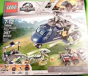 LEGO JURASSIC WORLD BLUE/'S HELICOPTER PURSUIT 75928 397 PCS.