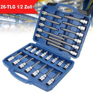 Torx Bit Schraubendreher T50 lang Schrauben Werkzeug Nuss Steckschlüssel Einsatz