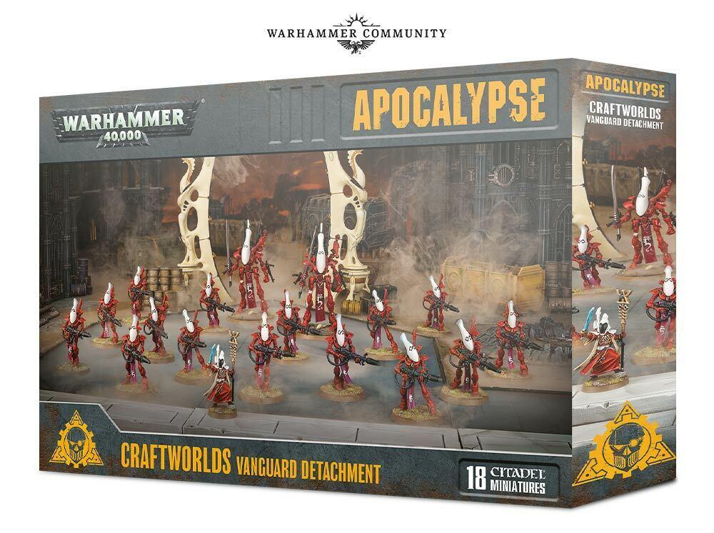 Warhammer 40k Apocalypse Craftworlds Distaachment in Stock