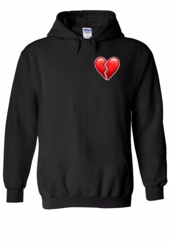 Broken Heart Emoji Pocket Men Women Unisex Top Hoodie Sweatshirt 2006