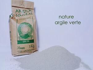 Argile-verte-Illite-Peau-douce-dents-blanches-Poudre-fine-d-039-argile-2-2-LBS-1kg