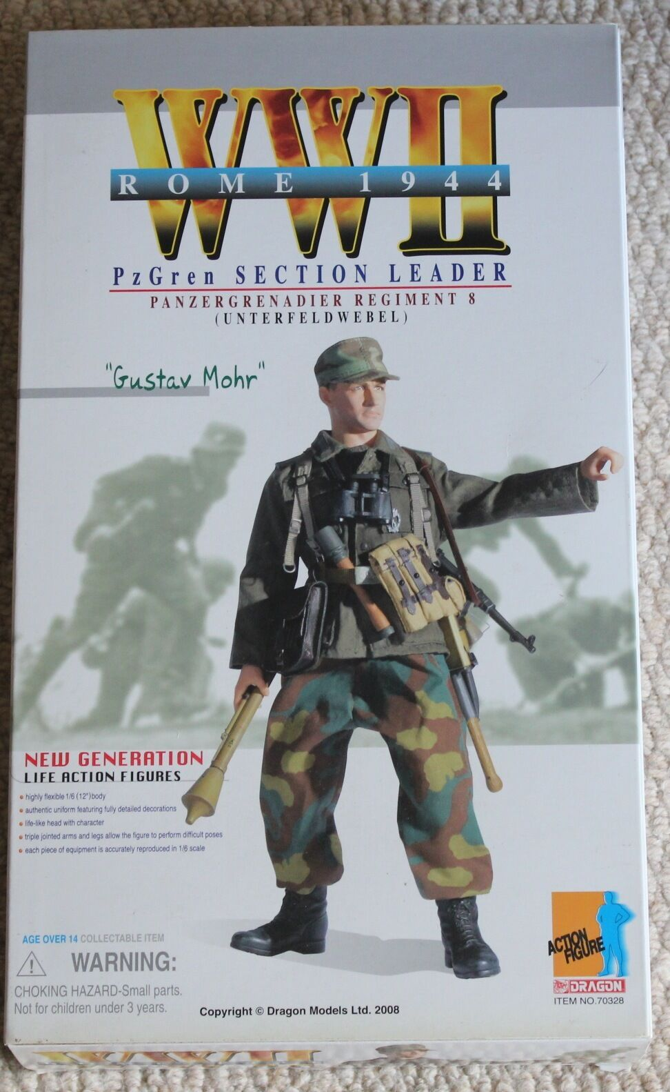 Dragon action figure 1 6 ww11 german gustav 70328 12'' boxed did cyber hot toy