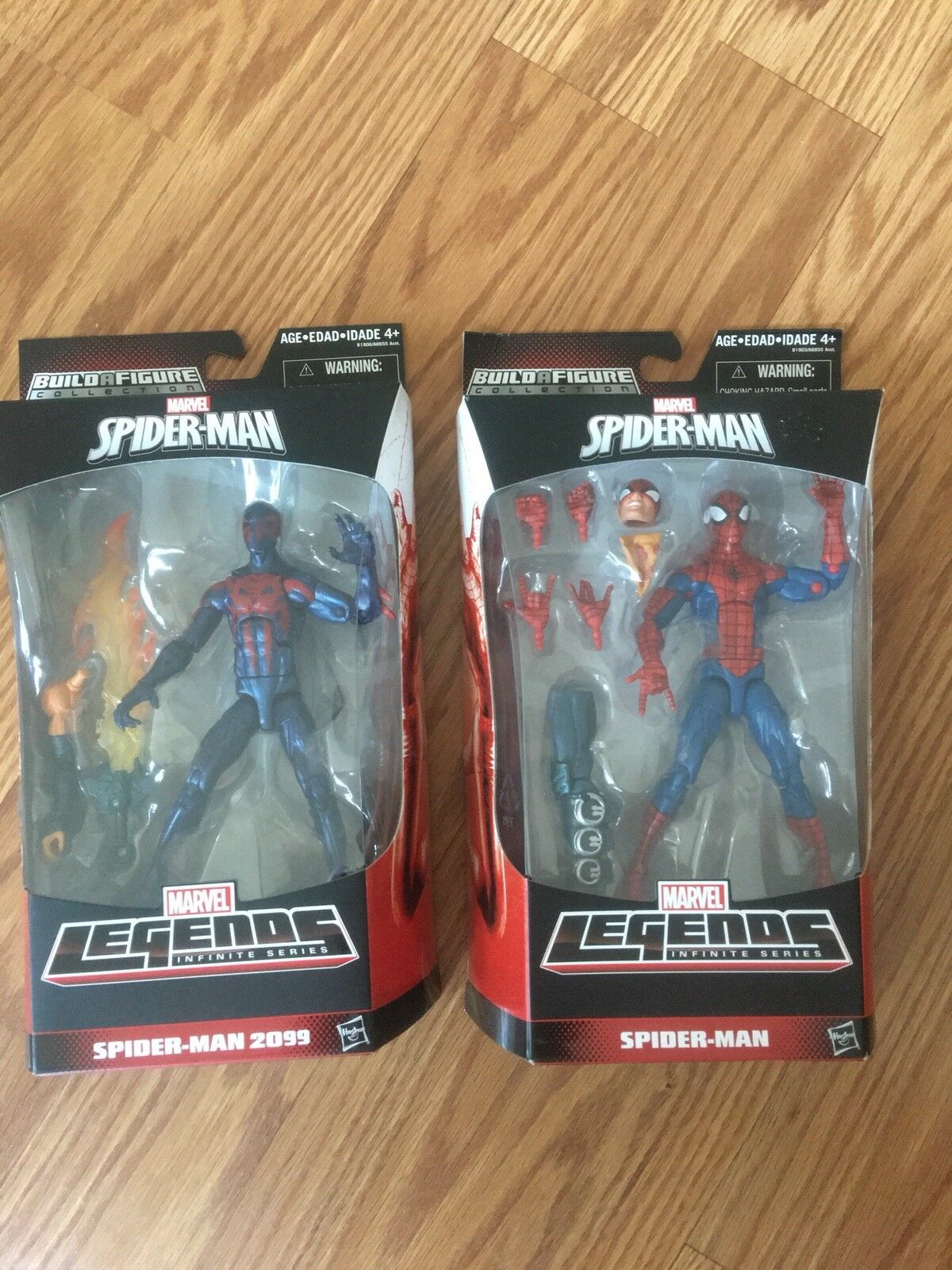 Marvel Legends Pizza Spider-Man And Spider-Man 2099 Build A Figure Hobgoblin