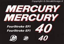 Adesivi motore marino fuoribordo mercury 40 cv four stroke EFI barca stickers