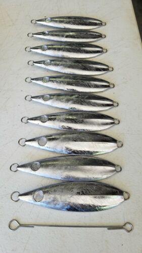 250 gram flat fall slow pitch jigging blanks 10ct bluefin tuna