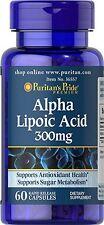 Puritan's Pride Alpha Lipoic Acid 300 mg 60 Capsules