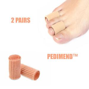 Pedimend-2-Paar-Gel-Zehen-Kappen-Hammer-Toe-Glaetter-Protector-Finger-Abdeckungen
