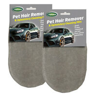 2 x Triplewax Pet Hair Fur Lint Remover & Upholstery Cleaning Mitt Glove