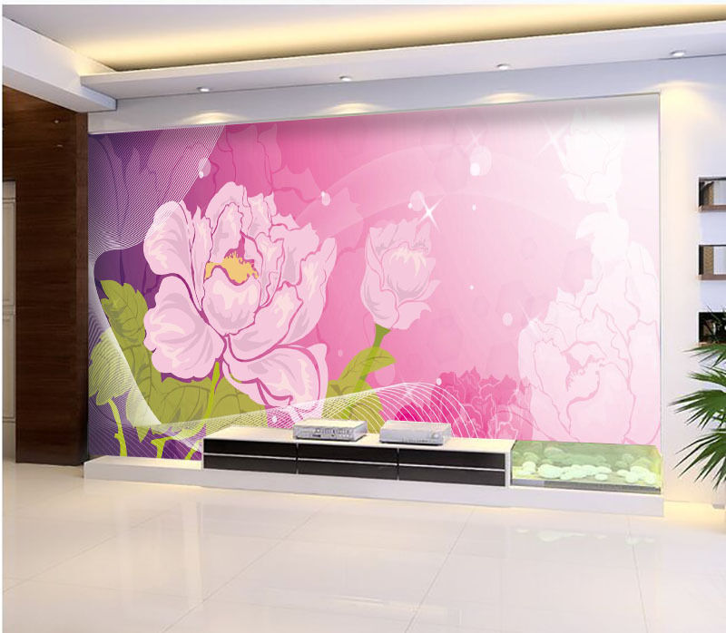 3D Peony Flowers Floral 1 Wall Paper Print Decal Wall Deco Indoor wall Mural