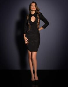 dcbb4cbc74 AGENT PROVOCATEUR BLACK ERIKKA DRESS SIZE SMALL   2   8-10 RRP £595 ...