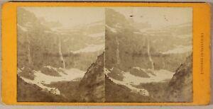 Cascade Da Gavarnie Francia Foto Viron Stereo PL55L2n Vintage Albumina c1875