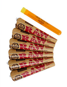 RAW-1-1-4-Classic-Rolling-Paper-Pre-Rolled-Cones-6-packs-of-6-cones-36-total