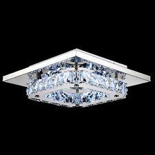 LED Modern Fixture Ceiling Light Lighting Crystal Pendant Chandelier Lamp Flush