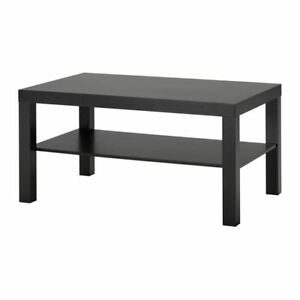 Image Is Loading Modern Lack Side Coffee Table Black Brown Tv