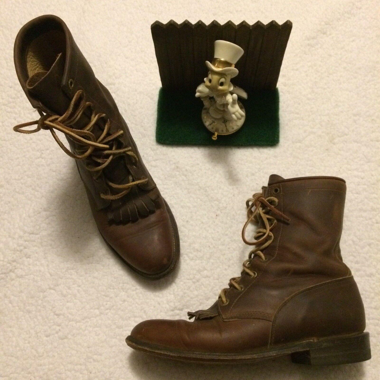 Justin para mujer Roper 35279 Laceup botas De Vaquero botas de buen tamaño 7.5 B